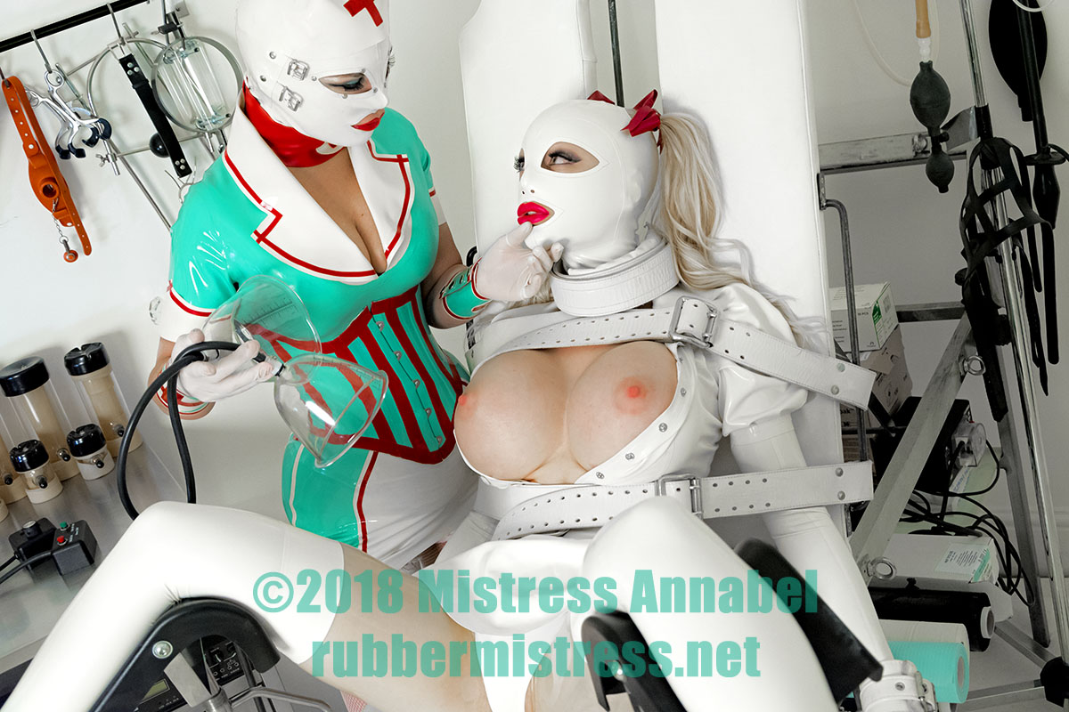 Mistress Annabel with Latex Lucy at London Rubber Studio. rubbermistress.net
